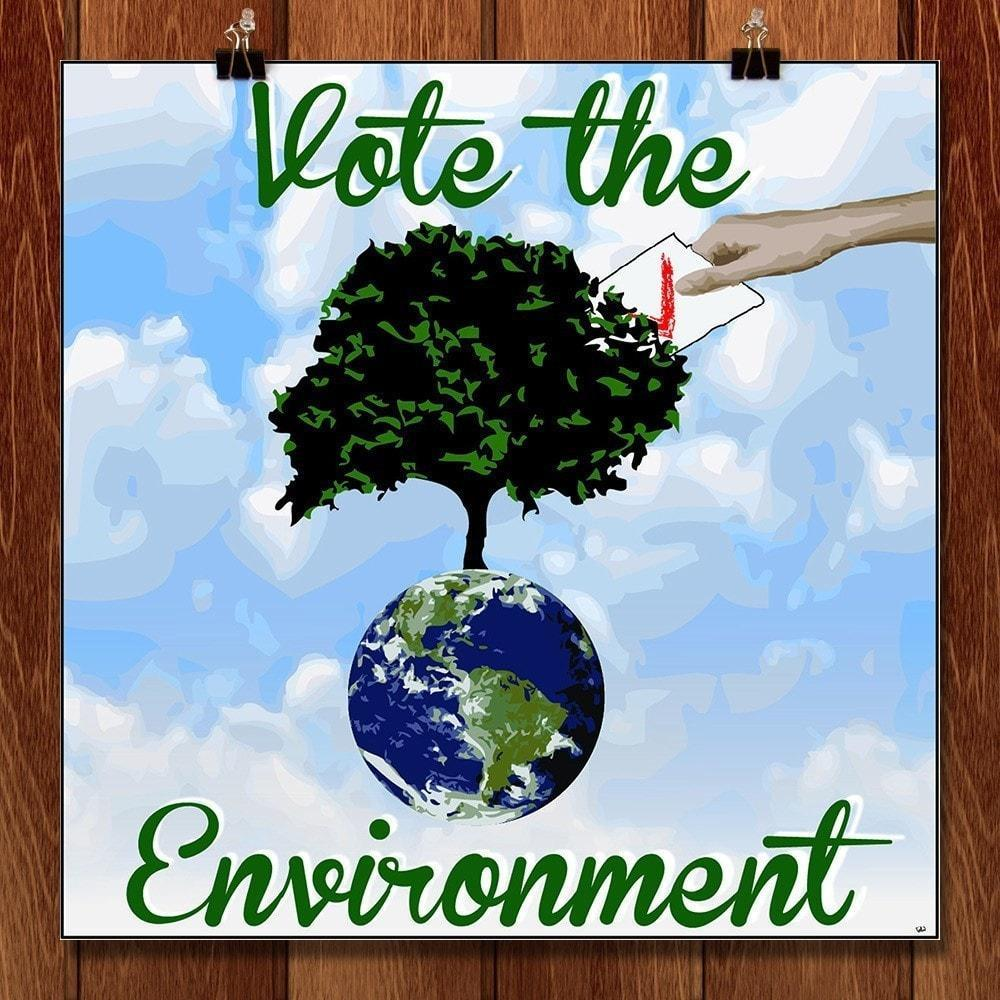 "Every Vote Counts by Paige 12"" by 12"" Print / Unframed Print Vote the Environment"