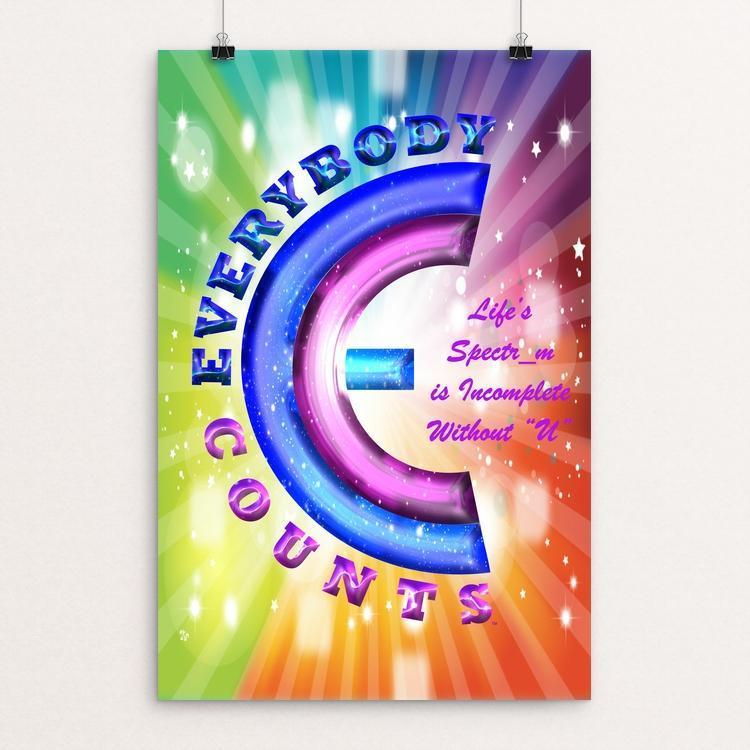"Everybody Counts by Craig Schuster 12"" by 18"" Print / Unframed Print Power to the Poster"