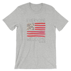 Everyone Welcome T-Shirt by Crystal Sacca S / Men's / Heather Grey T-Shirt What Makes America Great