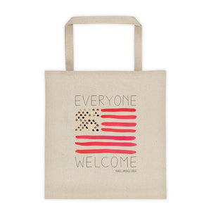 Everyone Welcome Tote Bag by Crystal Sacca Tote Bag What Makes America Great
