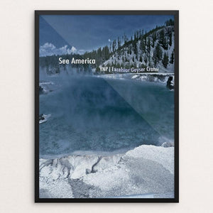 "Excelsior Geyser Crater, Yellowstone National Park by Bryan Bromstrup 12"" by 16"" Print / Framed Print See America"