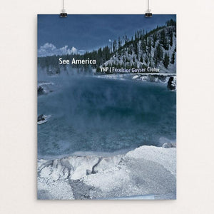 "Excelsior Geyser Crater, Yellowstone National Park by Bryan Bromstrup 12"" by 16"" Print / Unframed Print See America"