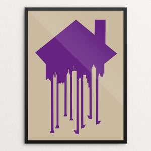 "Exitus (Gentrification) by CHR!S REEL 18"" by 24"" Print / Framed Print Creative Action Network"
