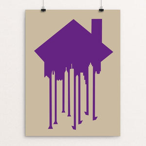 "Exitus (Gentrification) by CHR!S REEL 18"" by 24"" Print / Unframed Print Creative Action Network"