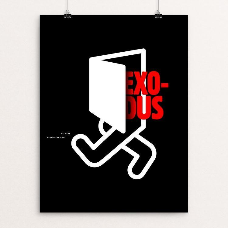 "Exodus Man by Ioannis Fetanis 12"" by 16"" Print / Unframed Print We Were Strangers Too"