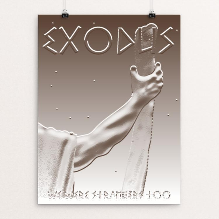 "Exodus - Moses by Margo Alexander 12"" by 16"" Print / Unframed Print We Were Strangers Too"