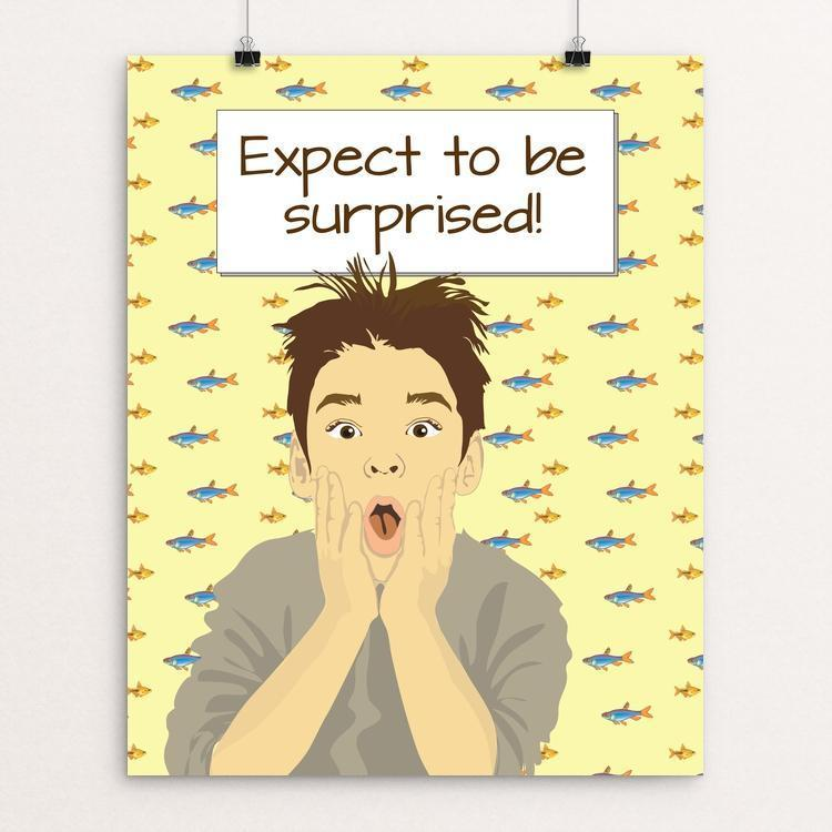 """Expect to be surprised 1"" Illustrated by Lyla Paakkanen"