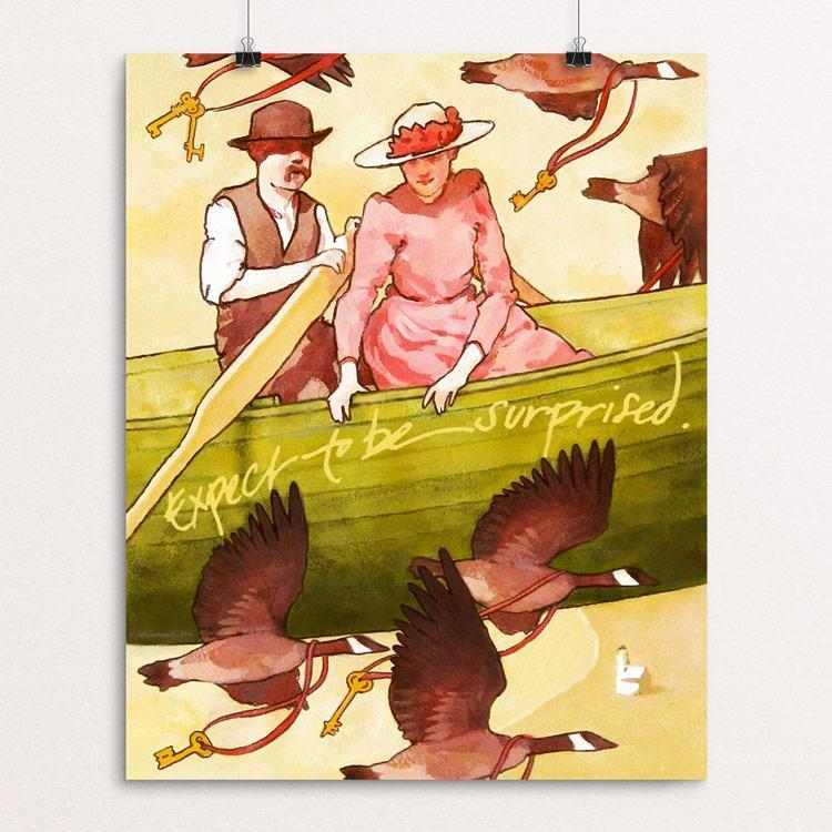 """Expect to be surprised."" Illustrated by Caitlin Heimerl Unframed / 16"" by 20"" Print Print 1200 Posters"