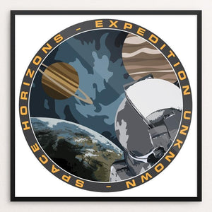 "Expedition Unknown by Susanne Arens 12"" by 12"" Print / Framed Print Space Horizons"