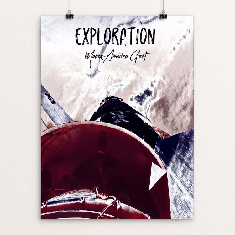 "Exploration by Bryan Bromstrup 12"" by 16"" Print / Unframed Print What Makes America Great"
