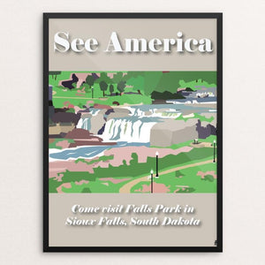 "Falls Park by Sydney Hokanson 12"" by 16"" Print / Framed Print See America"