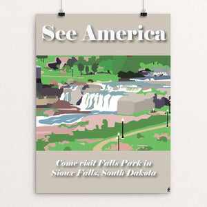 "Falls Park by Sydney Hokanson 12"" by 16"" Print / Unframed Print See America"