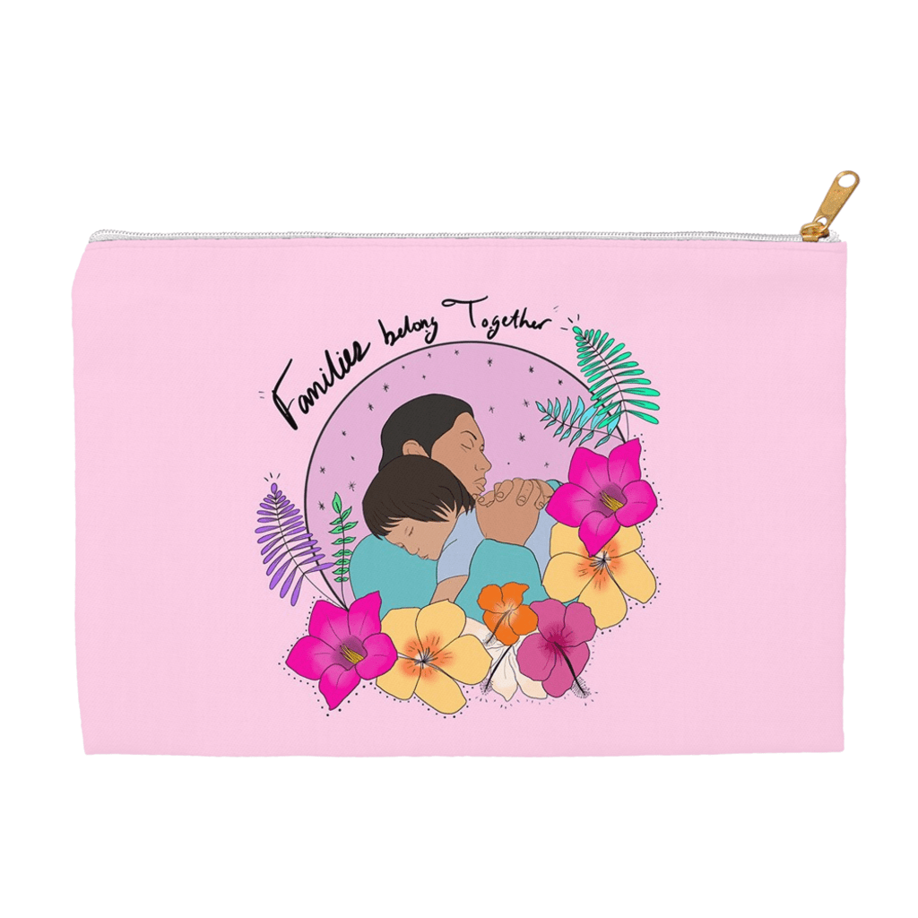 Families Belong Together Accessory Bag by Manuela Guillén