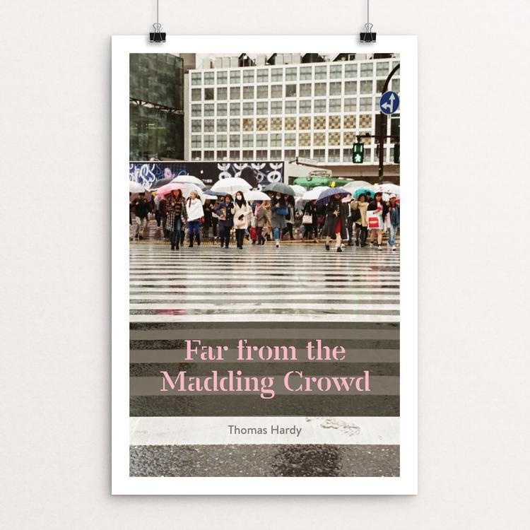 "Far From the Madding Crowd by Dan O'Leary 12"" by 18"" Print / Unframed Print Recovering the Classics"