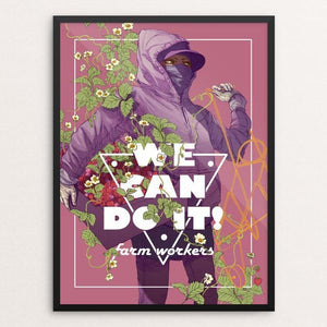 "Farm Workers by Daria Theodora 12"" by 16"" Print / Framed Print We Can Do It!"