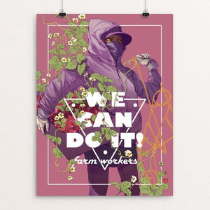"Farm Workers by Daria Theodora 12"" by 16"" Print / Unframed Print We Can Do It!"