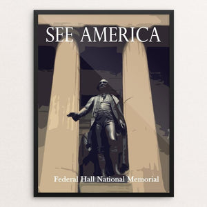 "Federal Hall National Memorial by Ludlowfan 12"" by 16"" Print / Framed Print See America"