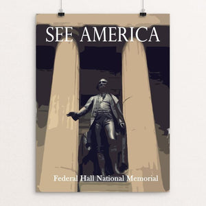 "Federal Hall National Memorial by Ludlowfan 12"" by 16"" Print / Unframed Print See America"