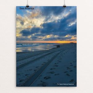 "Fire Island National Seashore 2 by Mac Titmus 12"" by 16"" Print / Unframed Print See America"