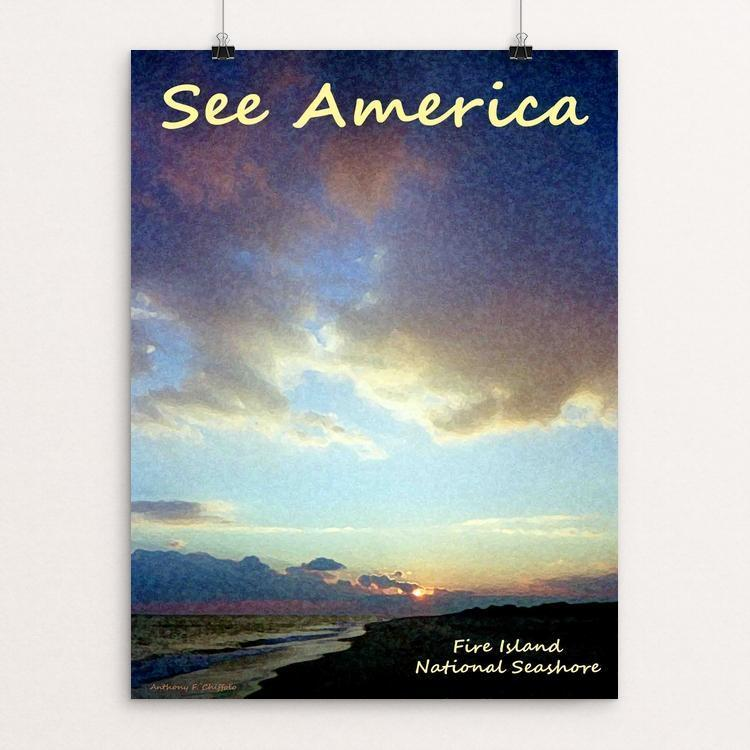 "Fire Island National Seashore by Anthony Chiffolo 12"" by 16"" Print / Unframed Print See America"