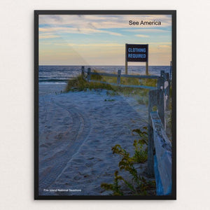 "Fire Island National Seashore by Mac Titmus 12"" by 16"" Print / Framed Print See America"