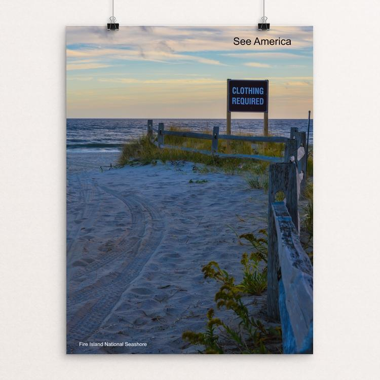 "Fire Island National Seashore by Mac Titmus 12"" by 16"" Print / Unframed Print See America"