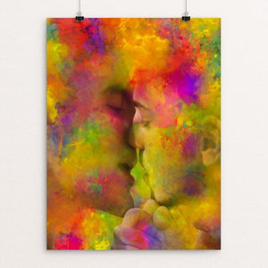 "First Kiss by Mac Titmus 12"" by 16"" Print / Unframed Print Creative Action Network"