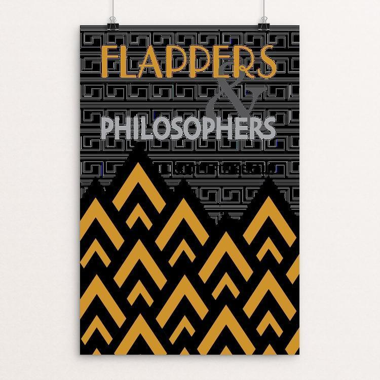 "Flappers and Philosophers by Shelby Krueger 12"" by 18"" Print / Unframed Print Recovering the Classics"
