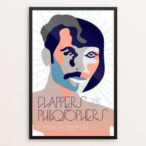 "Flappers and Philosophers by Trevor Messersmith 12"" by 18"" Print / Framed Print Recovering the Classics"