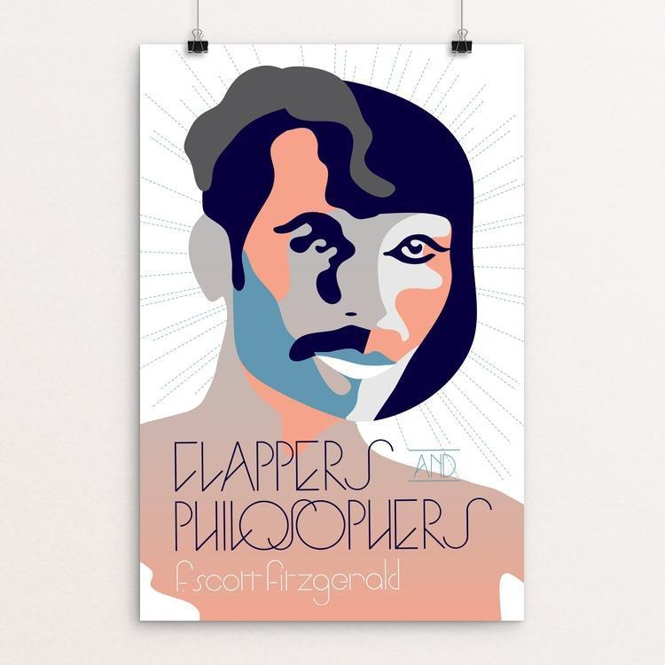 "Flappers and Philosophers by Trevor Messersmith 12"" by 18"" Print / Unframed Print Recovering the Classics"