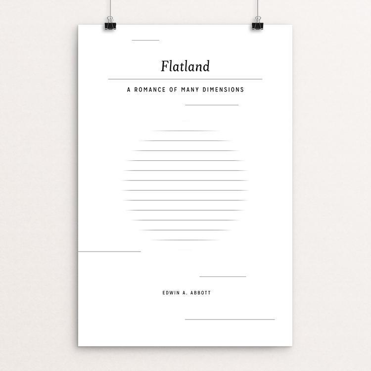 "Flatland: A Romance of Many Dimensions by Jen Grottle 12"" by 18"" Print / Unframed Print Recovering the Classics"