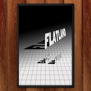 "Flatland by J.R.J. Sweeney 12"" by 18"" Print / Framed Print Recovering the Classics"