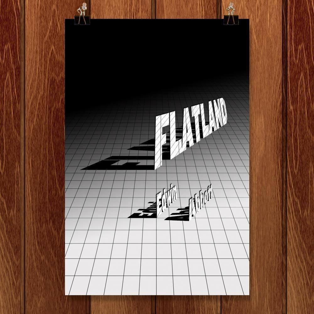 "Flatland by J.R.J. Sweeney 12"" by 18"" Print / Unframed Print Recovering the Classics"