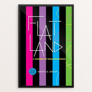 "Flatland by Robert Wallman 12"" by 18"" Print / Framed Print Recovering the Classics"