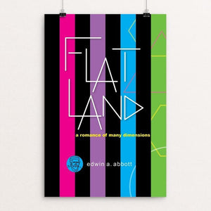 "Flatland by Robert Wallman 12"" by 18"" Print / Unframed Print Recovering the Classics"