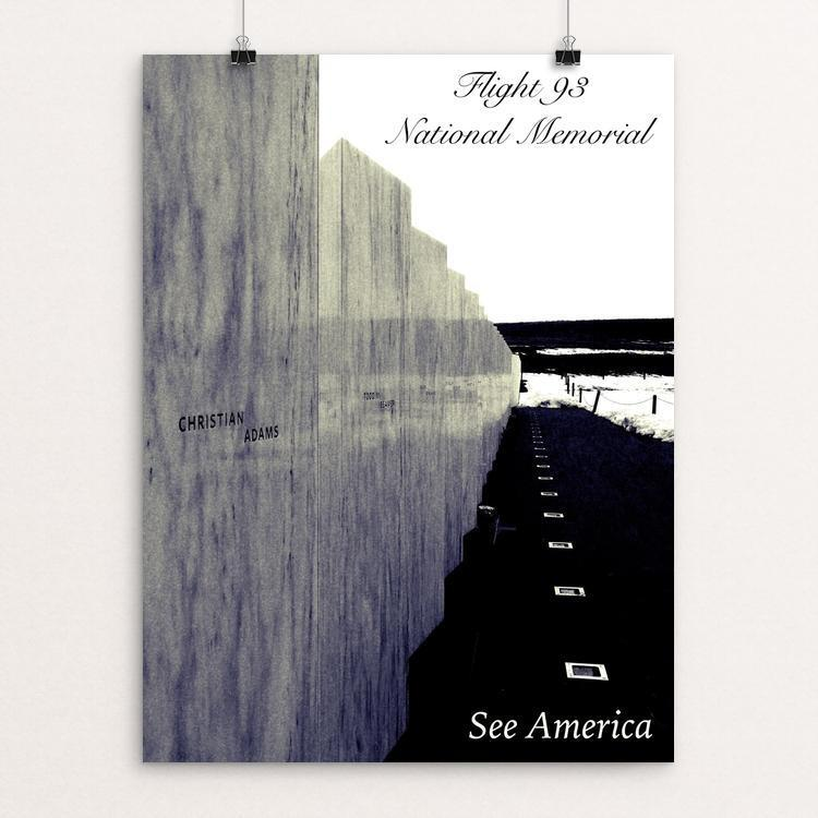 "Flight 93 - Wall of Names by Bryan Bromstrup 12"" by 16"" Print / Unframed Print See America"