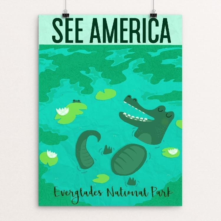 "Florida Everglades National Park by Hannah Burke 12"" by 16"" Print / Unframed Print See America"