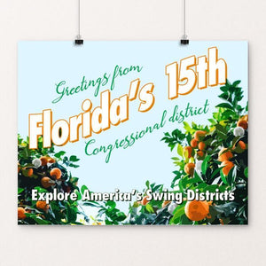 "Florida's 15th Congressional District by Shannon Carnevale 20"" by 16"" Print / Unframed Print Postcards from America's Swing Districts"