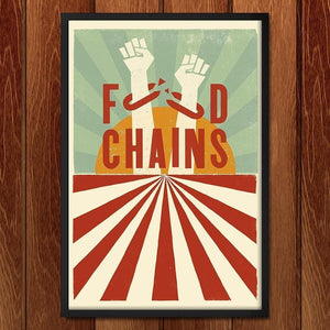 "Food Chains by Mr. Furious 12"" by 18"" Print / Framed Print Food Chains"