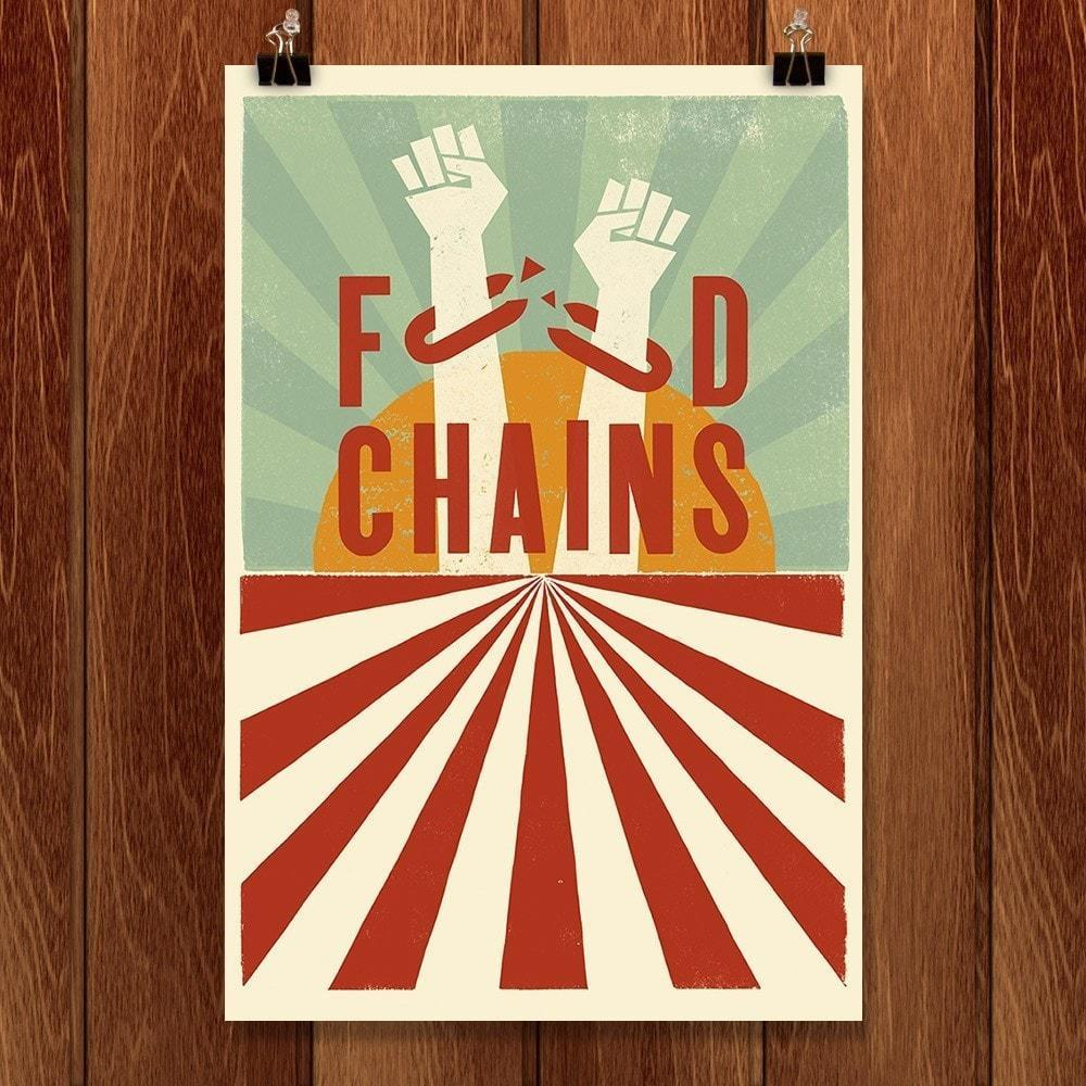 "Food Chains by Mr. Furious 12"" by 18"" Print / Unframed Print Food Chains"