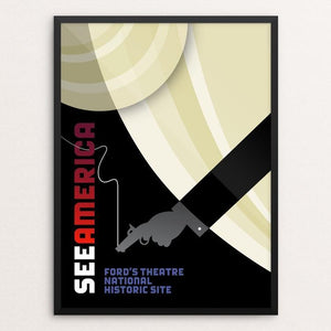 "Ford's Theatre National Historic Site by Luis Prado 12"" by 16"" Print / Framed Print See America"
