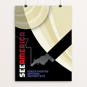 "Ford's Theatre National Historic Site by Luis Prado 12"" by 16"" Print / Unframed Print See America"