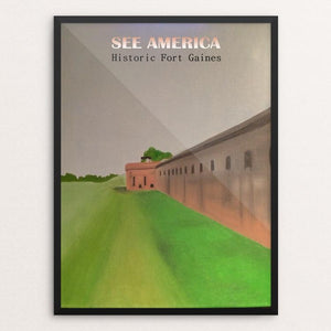 "Fort Gaines Historic Site by Bryan Bromstrup 12"" by 16"" Print / Framed Print See America"
