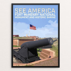 "Fort McHenry National Monument and Historic Shrine by Daniel Gross 12"" by 16"" Print / Framed Print See America"