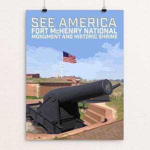 "Fort McHenry National Monument and Historic Shrine by Daniel Gross 12"" by 16"" Print / Unframed Print See America"