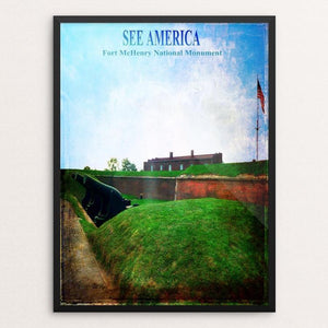 "Fort McHenry National Monument by Bryan Bromstrup 12"" by 16"" Print / Framed Print See America"