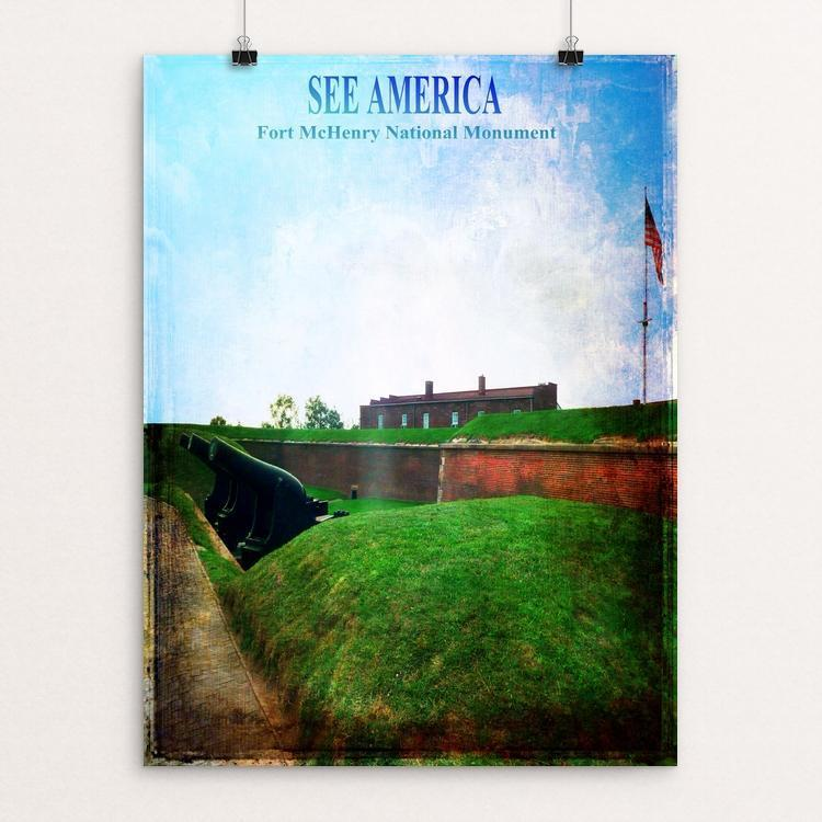 "Fort McHenry National Monument by Bryan Bromstrup 12"" by 16"" Print / Unframed Print See America"