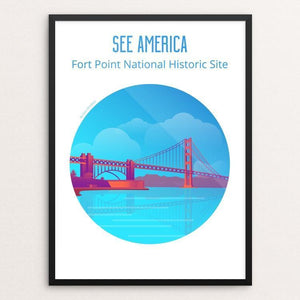 "Fort Point National Historic Site by Ilyas Bentaleb 12"" by 16"" Print / Framed Print See America"
