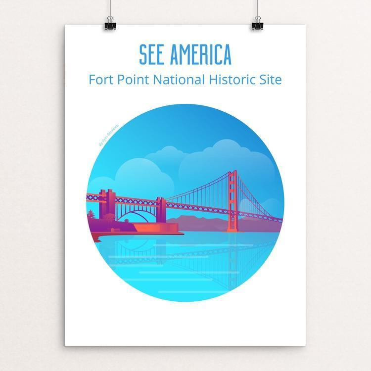 "Fort Point National Historic Site by Ilyas Bentaleb 12"" by 16"" Print / Unframed Print See America"