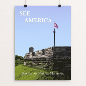 "Fort Stanwix National Monument 2 by Ludlowfan 12"" by 16"" Print / Unframed Print See America"